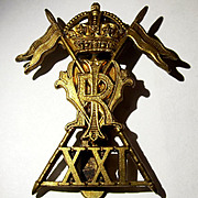 WW1 1916-19 21st Lancers Empress of India Cap Badge