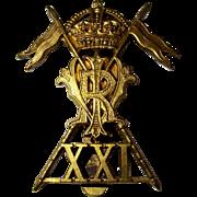 WW1 1916-19 21st Lancers Empress of India Cap Badge