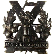 WW1 Tyneside Scottish Regiment Cap Badge