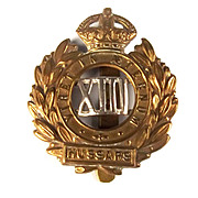 13th Hussars WW1 Cap Badge