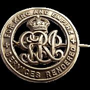 WW1 Silver Wound Badge – No. 336665 Pte. Jos Hayward, Devon Regiment