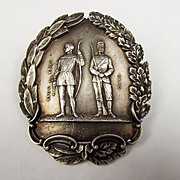 1908 London British Silver Soldier Badge