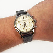 1950's Heuer 17 Jewels Stainless Steel Back Gents Watch