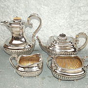 Late 19th Century/ Early 20th Century Silver Tea Set