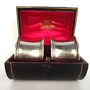 Cased Silver Hallmarked London 1905 Napkin Ring Pair