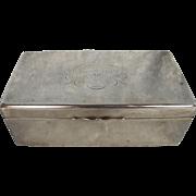 HMS Triumph Battleship Silver Hallmarked Cigarette Case Birmingham 1908