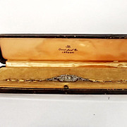 1930's Cased 18ct Gold Orient Jewel Co. Ladies Cocktail Watch
