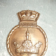 1940 Original Bronze Bridge Badge From HMS Anson (79)