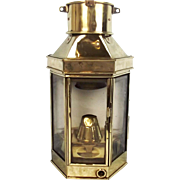 Early 20th Century Ships Passage Way Lantern