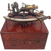 Circa 1929 Cased H. Hughes & Son Brass Naval Sextant