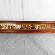 Circa 1900 Co-Operative Sign