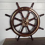Large Royal Navy Diving Tender Ixworth Eight Spoke Ships Wheel