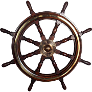Large Royal Navy Diving Tender Ixworth Eight Spoke Ships Wheel