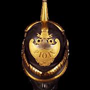 Circa 1850 Papal Civil Guard Officers Helmet Pope Pius IX
