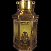Alderson & Gyde Ships Passageway Lantern 1941 Dated