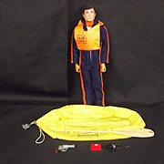 Circa 1975 Action Man Helicopter Pilot & Survival Kit