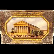 Circa 1840 Steel, Gilt & Oil On Copper French Purse