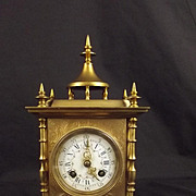 Samuel Marti Ornate Pre-1900 French 8-Day Gilt Striking Mantle Clock