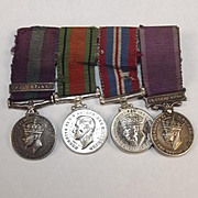 WW2 Palestine Miniature Medal Set