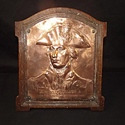 1905 Trafalgar Centenary Copper Commemorative Plaque