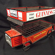 Circa 1950 Tin Plate Guinness Omnibus Advertising Bottle Crate
