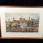Martin Snape (1852-1930) Watercolour Of A Country House