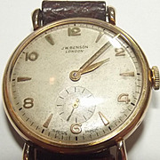 1955 Yellow Gold Gentlemans 15 Jewel Wrist Watch