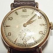 1955 Yellow Gold Gentlemans 15 Jewel Wrist Watch