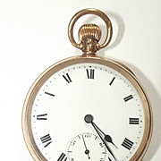 Dennison 1916 Open Faced 9Ct Gold Pocket Watch