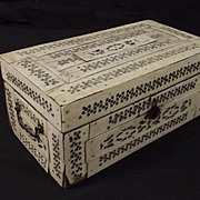 Napoleonic French Prisoner Of War Domino Box With Dominoes