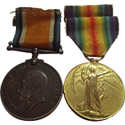 WW1 Medal Pair Awarded To Pte F. Youngs Army Service Corps