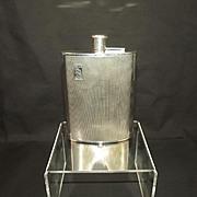 Birmingham 1989 Rolls Royce Sterling Silver Spirit Hip Flask