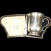 1919 Dated Cased Sterling Silver Mug