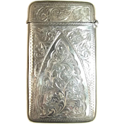 Large Silver Card Case Hallmarked For Birmingham 1904