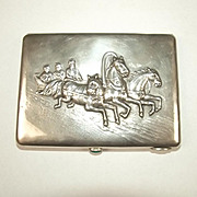Russian Imperial Silver Cigarette Case