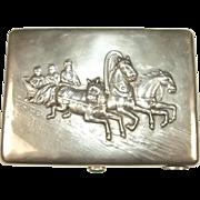 Russian Imperial Silver Cigarette Case