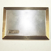 Aspreys Of London 1926 Dated Gold And Silver Royal Navy Signed Business Card Case