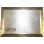 Aspreys London 1926 Dated Gold And Silver Royal Navy Signed Business Card Case