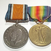 WW1 Medal Pair Awarded To Pte G. Teale Liverpool Regiment