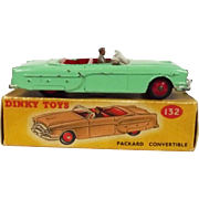 Dinky 132 Boxed Packard Convertible Green