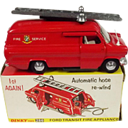Boxed Dinky 286 Ford Transit Fire Appliance