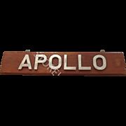 Leander Class Frigate 1969 HMS Apollo Name Board