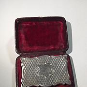 Cased 1854 Sterling Silver Vinaigrette Box