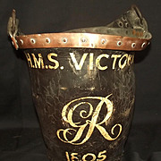 Circa 1800 Ships Leather Fire Bucket – Ex Wallaces - Spurious HMS Victory Marks