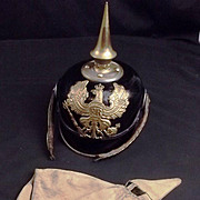 1916 Pattern Prussian Line Infantry  Officers Felt Pickelhaube And Fabric Cover