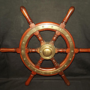 Ships Wheel From The Belle Isle Steam Launch - 1907