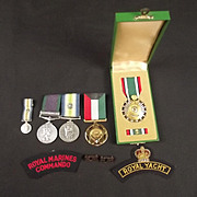 Royal Marine Commando South Atlantic Medal And Badges Set