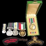 Royal Marine Commando South Atlantic Medal And Badges Set