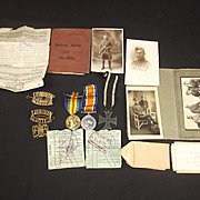 WW1 British Set Of Medals And Documents Of 514788 Pte N H Ritchie 14 London Regiment