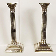 Pair Of 1982 Dated Birmingham W.I. Broadway & Co Sterling Silver Candlesticks